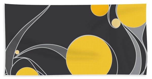 Yellow Circles Abstract Design Bath Towel