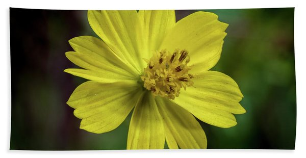 Yellow Flower Bath Towel