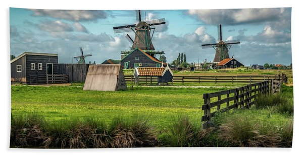 Hand Towel featuring the photograph Zaanse Schans And Farm by James Udall
