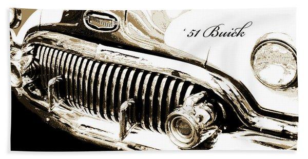 1951 Buick Super, Digital Art Hand Towel