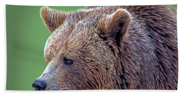 Bath Towel featuring the digital art Brown Bear 5 by Larry Linton
