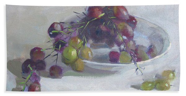 Greek Grapes Bath Towel