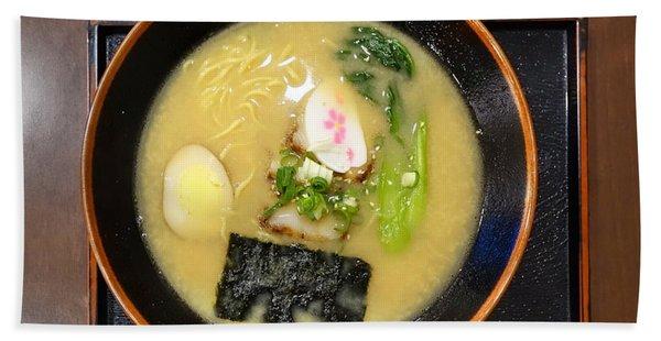 Japanese Miso Noodle Soup Hand Towel