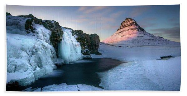 Kirkjufell, Iceland Hand Towel