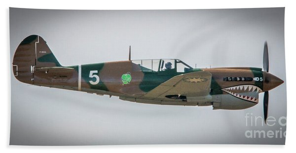 Bath Towel featuring the photograph P-40 Warhawk by Tom Claud