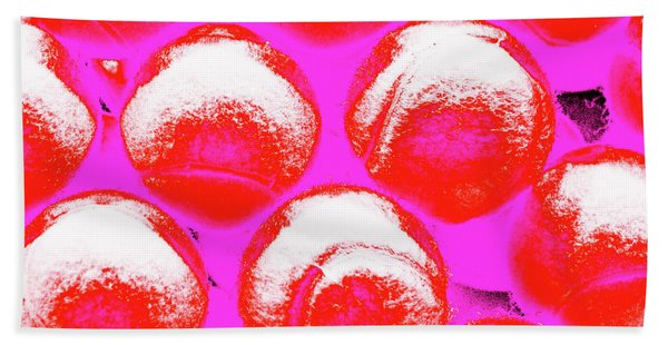 Pop Art Tennis Balls Bath Towel