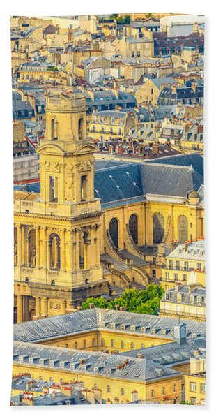 Saint Sulpice Church Paris Bath Towel