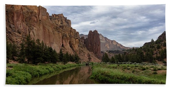 Smith Rock Reflections Hand Towel