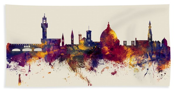 Florence Italy Skyline Bath Towel