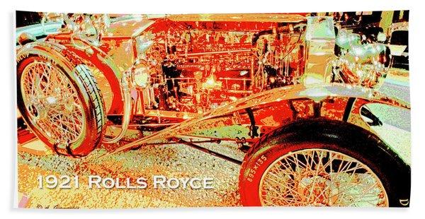 1921 Rolls Royce Classic Automobile Bath Towel