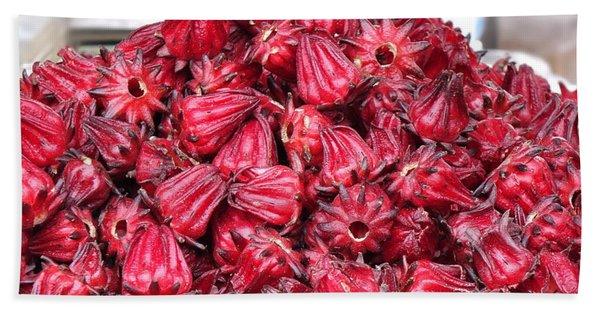 Fresh Rosella Fruit Hand Towel