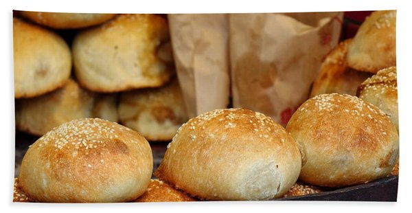 Freshly Baked Buns With Stuffing Hand Towel