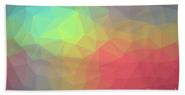 Gradient Background With Mosaic Shape Of Triangular And Square C Bath Towel