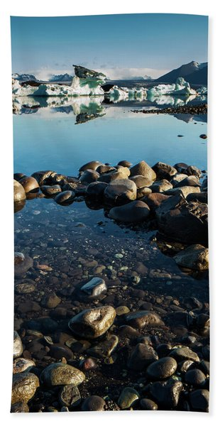 Jokulsarlon Lagoon, Iceland Hand Towel