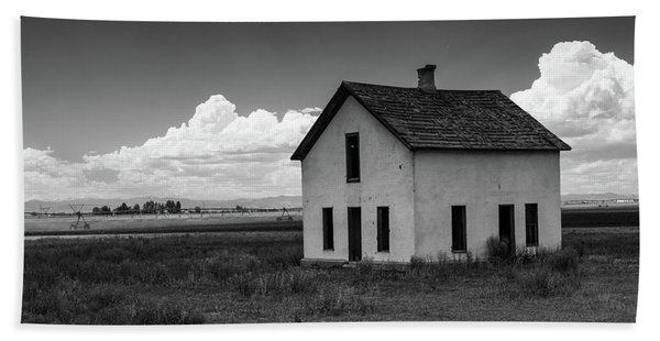 Old Abandoned House In Farming Area Hand Towel