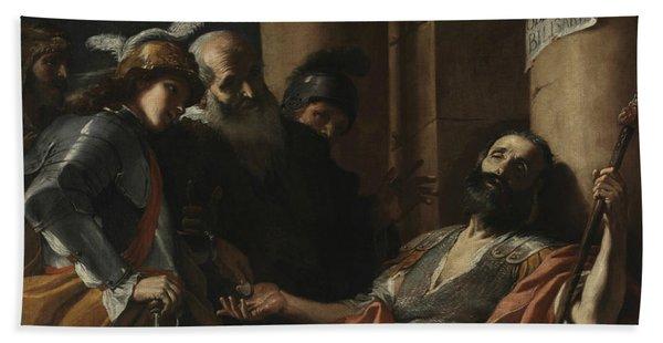 Belisarius Receiving Alms Hand Towel