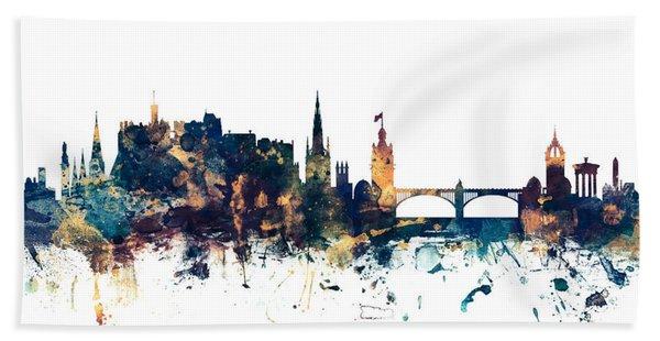 Edinburgh Scotland Skyline Hand Towel