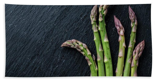 Fresh Green Asparagus Bath Towel