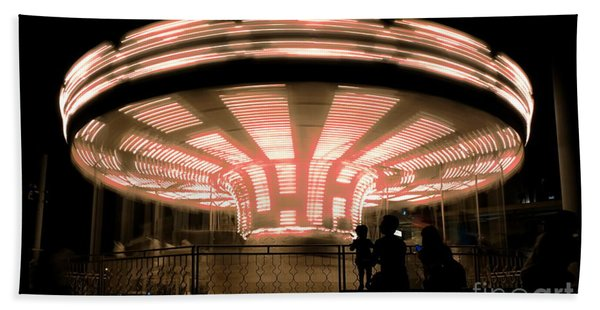 A Carousel By Night Hand Towel