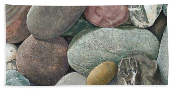 A Congregation Of Stones Hand Towel