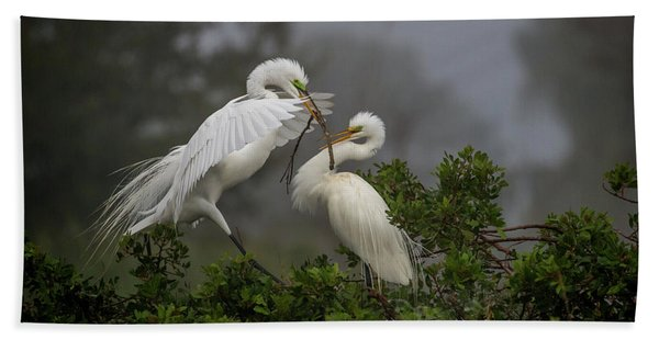 A Couple Of Birds Hand Towel