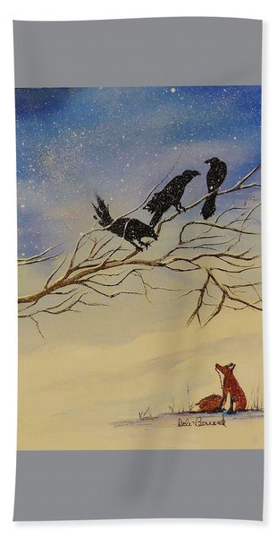 A Fox And His Cronies Bath Towel