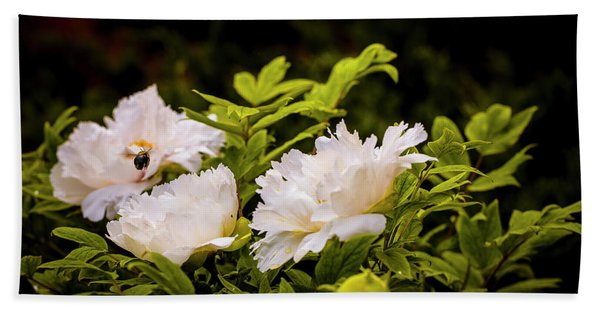 A Pollinator's Work Is Never Done Bath Towel
