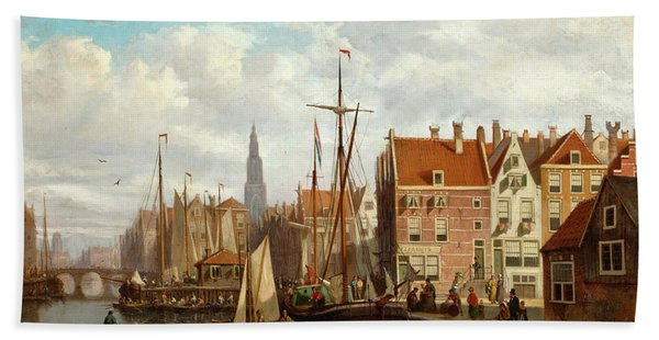 A View Of Amsterdam Bath Towel
