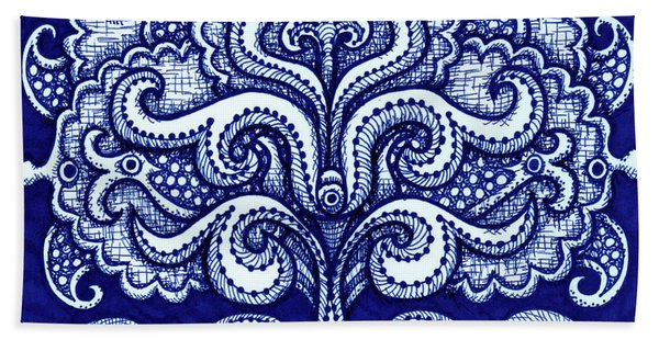 Alien Bloom 2 Bath Towel