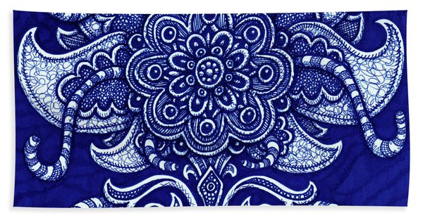 Bath Towel featuring the drawing Alien Bloom 22 by Amy E Fraser