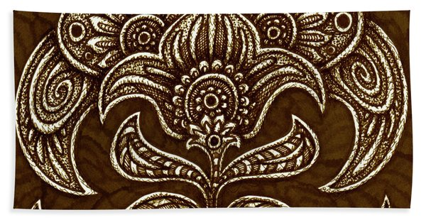 Bath Towel featuring the drawing Alien Bloom 26 by Amy E Fraser