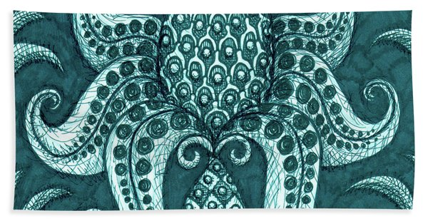 Alien Bloom 3 Bath Towel