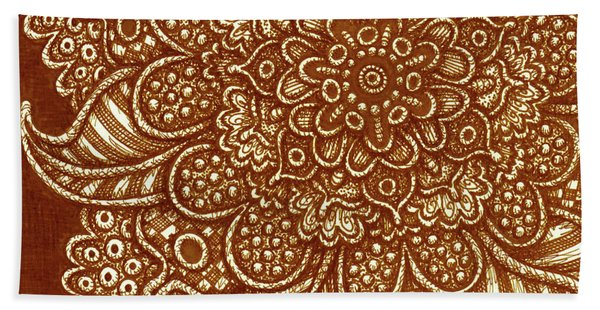 Bath Towel featuring the drawing Alien Bloom 7 by Amy E Fraser