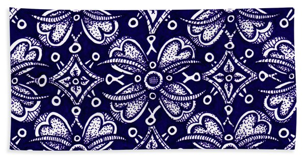 Bath Towel featuring the drawing Alien Bloom 9 by Amy E Fraser