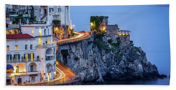 Amalfi Coast Italy Nightlife Bath Towel