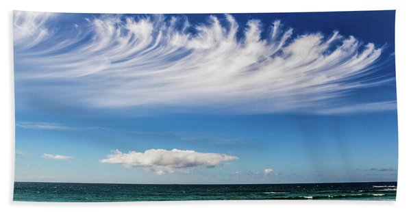 Aotearoa - The Long White Cloud, New Zealand Bath Towel
