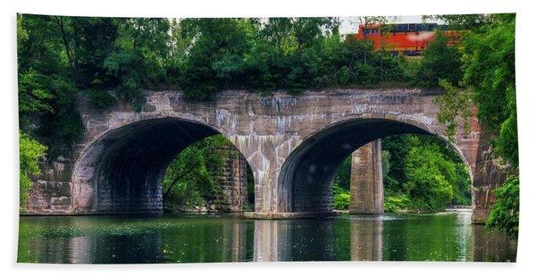 Arched Train Bridge   Bath Towel