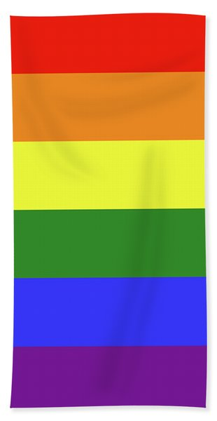 Lgbt 6 Color Rainbow Flag Bath Towel