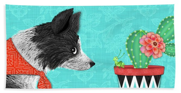 C Is For Collie Hand Towel