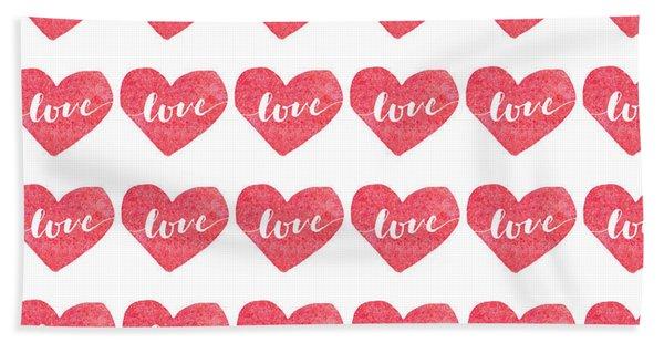 Love Is In The Air Bath Towel