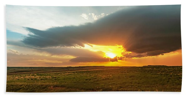 As The Sun Is Setting Hand Towel