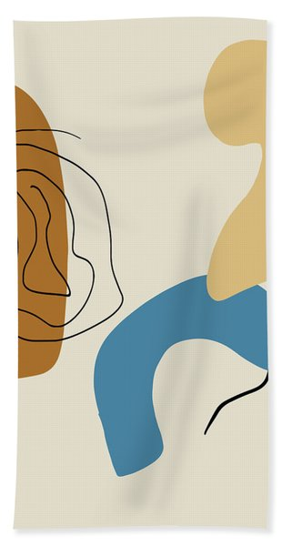 Badlands 1 Minimalist Abstract Hand Towel