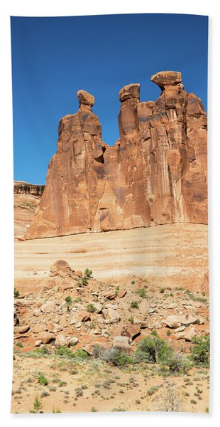 Balanced Rocks In Arches Hand Towel