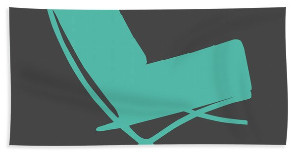 Barcelona Chair Teal Hand Towel