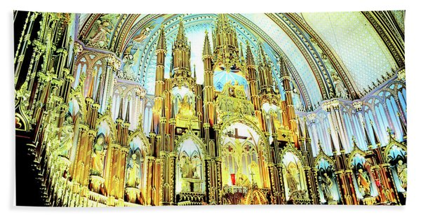 Basilica Of Notre Dame Montreal Quebec Hand Towel