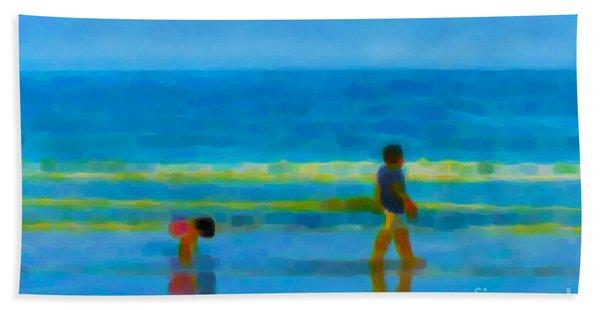 Beach Blues Hand Towel