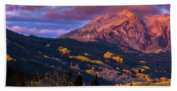 Hand Towel featuring the photograph Beckwith At Sunrise by John De Bord
