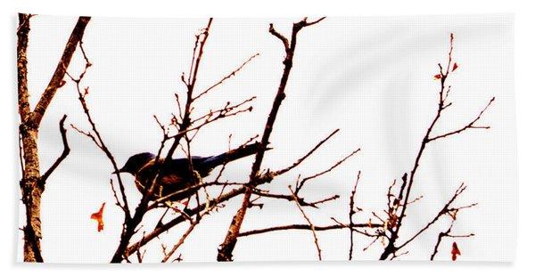 Bird On A Tree Bath Towel
