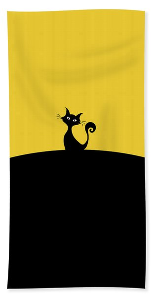 Black Cat Hand Towel
