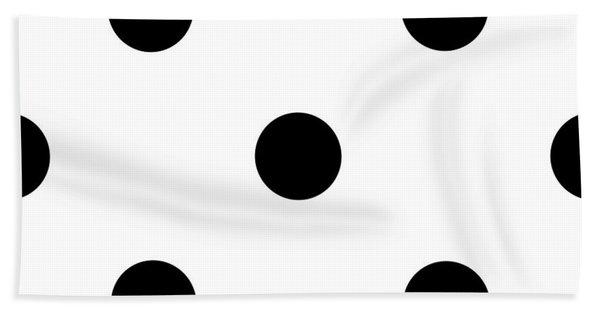 Black Dots On A White Background- Ddh610 Bath Towel